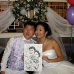 свадебный шарж