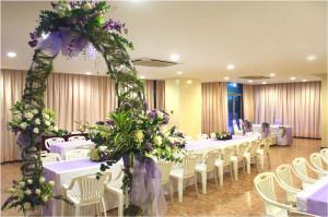 Варианты украшения свадебного зала