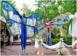 Ходулисты на свадьбу