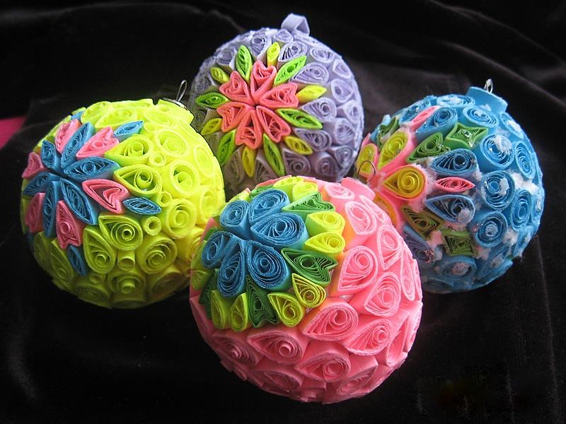 Квиллинг новогодние шары своими руками